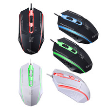 2018 HOT SALE 4 buttons Professional 1200DPI LED Optical Wired Gaming Mouse for Windows 7 Windows XP for professional gamer(China)
