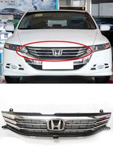 For Honda Odyssey 2009-2014 year Front Racing Grille Bumper Chrome Trim(China)