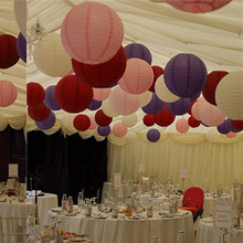1p 15cm Wedding Decorations Handmade Craft Paper Lantern Events Party Supplier Baby Shower Chinese Paper Ball 65Z