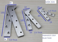 "80PCS/LOT 64mm(2.5"") Stainless steel Inset Door Pivot Hinge Knife Hinges Cabinet Cupboard"