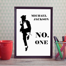 Black Michael Jackson Art Print Poster Decorative Nursery Micheal Jackson Dancer Wall Pictures Picture Wall Art Home Decor E154