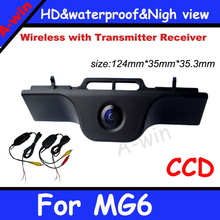 Parking Car reversing Camera For MG6  2.4GZH Wireless 170 degree Night vision HD CCD car rear view back up camera Security