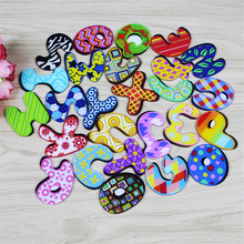 New arrival 1 piece Creative Cartoon 26 letters icon magnetic stickers Acrylic Fridge Magnets Home Decoration wholesale(China)