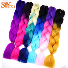 Silky Strands Ombre Synthetic Kanekalon Braiding Hair For Box Crochet Jumbo Braids Hair Extensions 100g