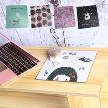 1Pc Fashion Creative PVC Anti-Slip Square Mouse Pad For Student Office Computer Notebook Mouse Mat 21*21cm C26