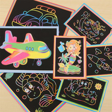 2017 Fashion 10pcs Cartoon DIY Color Sand Painting Patterns Kids Intelligence Education Tools Art Drawing Study Fun Toys Gift