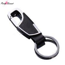 Classic Style Men Keychain Male Car Keyring Genuine Leather Key Chain Man's Waist/Strap Metal Auto Key Holder Gift For Men YS027(China)