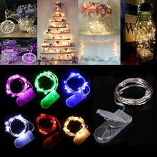 LED Strip 2M 20 Led Fairy Light String Outdoor Garland Christmas Wedding Party Decoration Battery Operated Copper