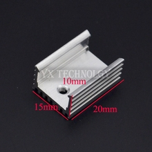 SZYTF 100pcs Heat sink 15*10*20MM (silver) high quality radiator simple TO-220 transistor and other special(China)