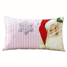 Comfortable  Lovely  Designed Decorative 30*50CM Christmas Rectangle Cotton Linter Cushion Almofada Decorativa Coussins