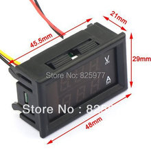 YB27VA Red LED 0-100V Digital Voltmeter 100A DC Current Volt Amp Meter 2in1 Car/Electric Car/Motorcycle Battery Monitor