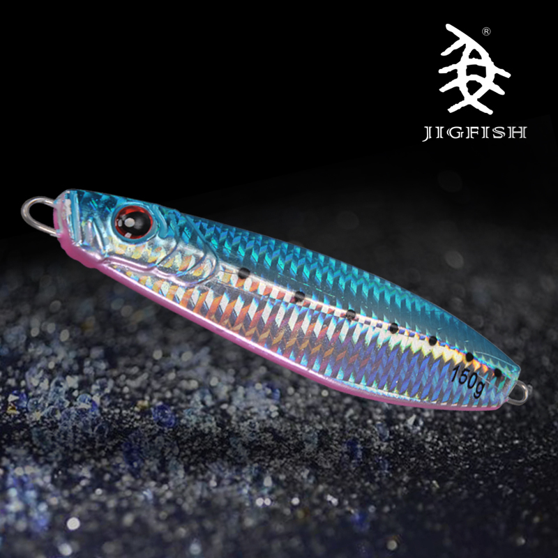Jigfish Iron Plate Road Second Bait Offshore Angling Depth Ships Fishing Mitsubishi Wide Lead Fish Bait Long Shot 150 G<br><br>Aliexpress