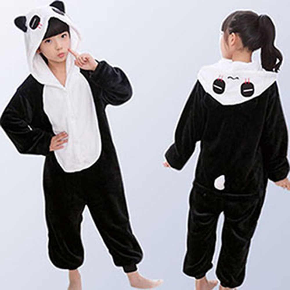 Фланелевые детские пижамы зимние с капюшоном животных Дети Единорог пижамы  для мальчиков и девочек пижамы комбинезоны 2d4c017e5f160