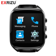 EXRIZU X01S Smart Watch MTK6572 Dual Core 1.3GHz Android 5.1 1.54inch 2.0MP Camera 3G SIM Smartwatch Phone GPS Gravity Pedometer(China)