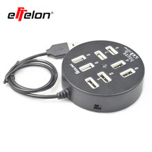 effelon Multi 8 Ports High Speed USB 2.0 480Mbps USB Charger Portable USB Splitter Peripherals Accessories For Computer
