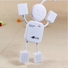 VENICO New arrival Creative Mini Humanoid usb hub Mini 4 Ports USB Hub 2.0 For Laptop PC Computer(China)