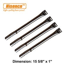 Hisencn 18501 5pcs/pk Replacement BBQ Pipe Tube Gas Grill Burner for for BBQ Brinkmann, Uniflame, Lowes Model Grills (15 5/8""