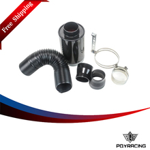 PQY FREE SHIPPING New Universal Racing Carbon Fiber Cold Feed Induction Kit Air Intake Kit Air Filter Box Witout Fan PQY-AIT13(China)