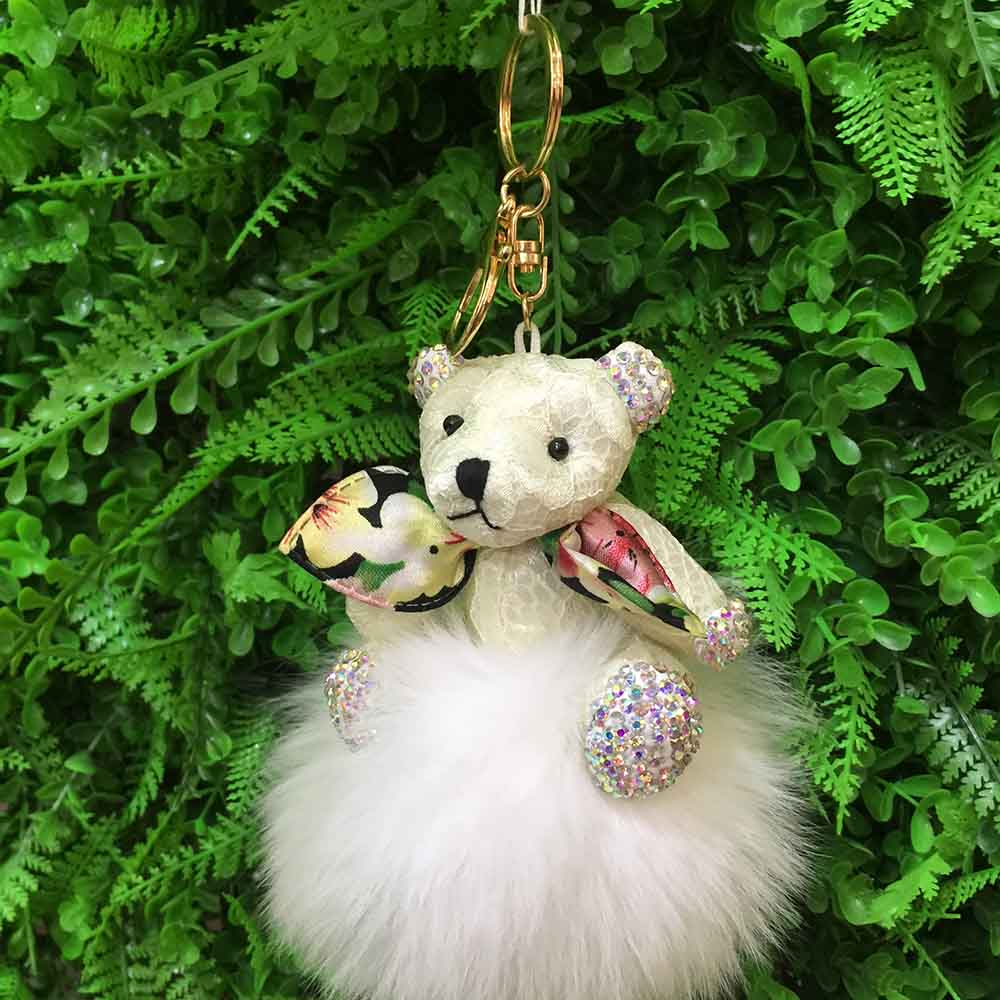 bear fox fur keychain 9 (9)