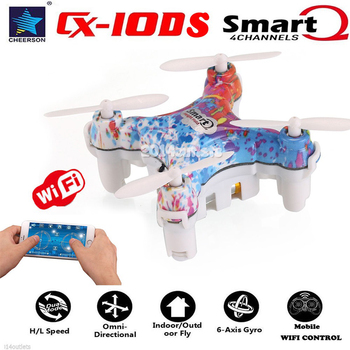 Cheerson CX-10DS 2.4GHz 6-Axis Gyro Mini RC Quadcopter Drone WiFi Control High Hold Function 6 axis gyro 3D Toys for Children
