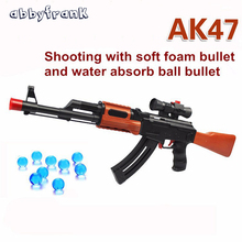 Abbyfrank AK 47 Toy Gun Soft Bullet Paintball Water Bullet Pistol Gun Toy Orbeez Water Gun Crystal Bullet Airgun Boy Gift