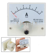 85C1 DC 0-10A Rectangle Analog Panel Ammeter Gauge(China)