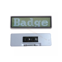 1pc 44x11 pixels Led tag Colorful Rechargeable Led Scrolling Name Badge Moving Text Display Business Card Tag(China)