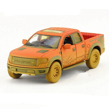 1:46 Kinsmart Die cast Model Truck Toy Clay Version Trucks Car Simulation Cars For Collection Dinky Toys For Children Juguetes(China)