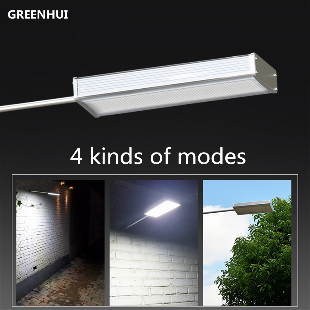 New Arrival 4 modes 48LED Microwave Radar Motion Sensor Solar Light Waterproof Street Outdoor Wall Lamp Security Spot Lighting<br>