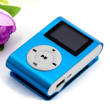 HOT SALE fashion Mini USB Clip MP3 Player LCD Screen Support 32GB Micro SD TF Card Slick stylish design Sport Compact