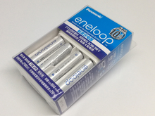 Panasonic Basic Charger + 4*Panasonic AAA 750mAh High Performance Ni-MH Battery Pre-charged Rechargeable Batteries
