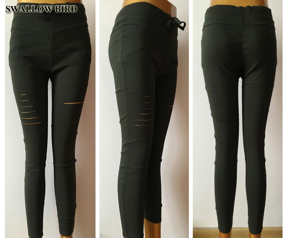 Women's Hollow Solid Cotton Leggings 17
