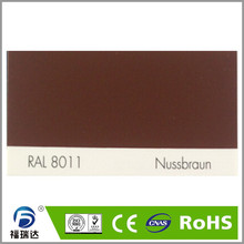 hybird polyester epoxy resin spray powder coating RAL8011 Nut Brown