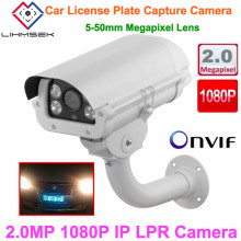 Lihmsek 3.0 MP Lens 2MP 1080P Vehicle License Plate Recognition Camera Megapixel ANPR LPR IP Camera with 5-50mm lens for Highway(China)