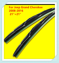 "3 Section Rubber Windscreen Wipers For Jeep Grand Cherokee 2008 2009 2010 2011 2012 2013 2014 2015 2016 21""+21""(China)"