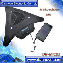 DANNOVO Video Conference Microphone Speakerphone, 3x Microphones, HiFi Function, Echo Cancellation,