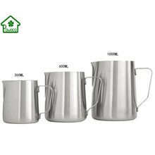 High Quality Stainless Steel Coffee Frothing Pitcher DIY Latte Milk Pull Flower Cup Frothing Jug Cooking Tools 350/600/1000ml(China)