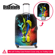 Colorful Art Style Waterproof Travel Luggage Protective Cover 3D Print Elastic Suitcase Protective Cover Apply to 18-30Inch Case(China)