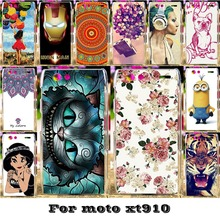 AKABEILA Luxury Painted Phone Skin Cases For Motorola Moto Droid RAZR XT910 XT912 Covers Protective Bags 18 Styles Plastic(China)