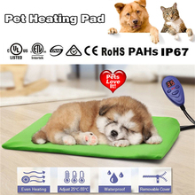 DC12V Dog Cat Heating Bed Waterproof Pet Electric Pad Heater Warmer Mat Bed Blanket Heated Pad Mat Thermal Protection with Plug