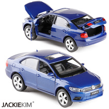Brand New 1:32 Volkswagen Jetta Diecast Alloy Car Model With Pull Back Flashing Classical Car For children Toys Free Shipping(China)