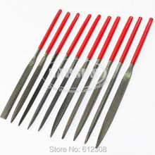 10pcs 180mm x 5mm Jewellers Precision Needle File Set Kit  Repair Metal Wood Craft Hobby Tools Flat Square Round File