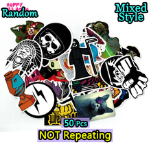 50 Different car styling funny cool sticker bomb waterproof graffiti Doodle stickers skateboard decal toy sticker hella flush