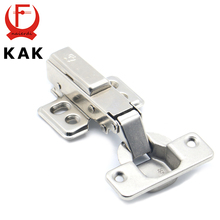 KAK Hinge Rustless Iron Hydraulic Hinge Iron Core Damper Buffer Cabinet Cupboard Door Hinges Soft Close Furniture Hardware(China)