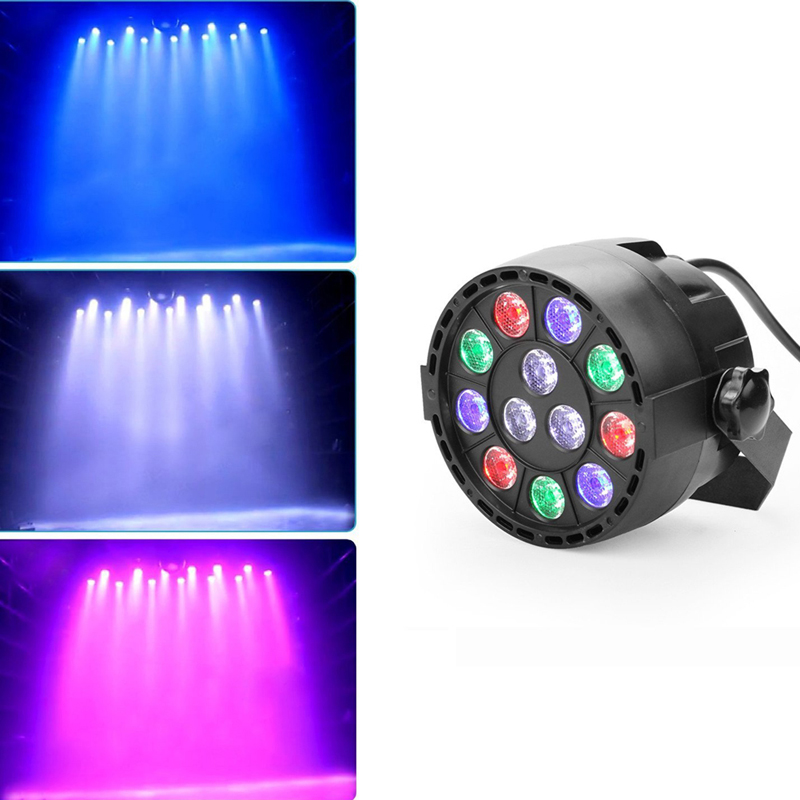 12 LED RGBW Color Mixing Par Stage Light Sound Activate DMX luces discoteca Stage Lights DJ Party Birthday Effect Pattern Light<br><br>Aliexpress