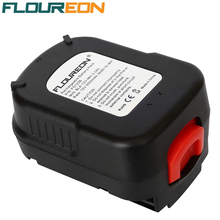 FLOUREON FS120B 12V 3000mAh Ni-MH Drill Rechargeable Battery Pack Power Tools Batteries for BLACK & DECKER A12 FSB12 Bateria