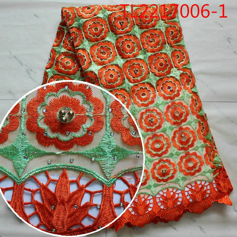 African Lace Fabric Wedding Decoration Christmas Decorations for Home French Nigerian Fabrics Costura Dentelle Telas(China)