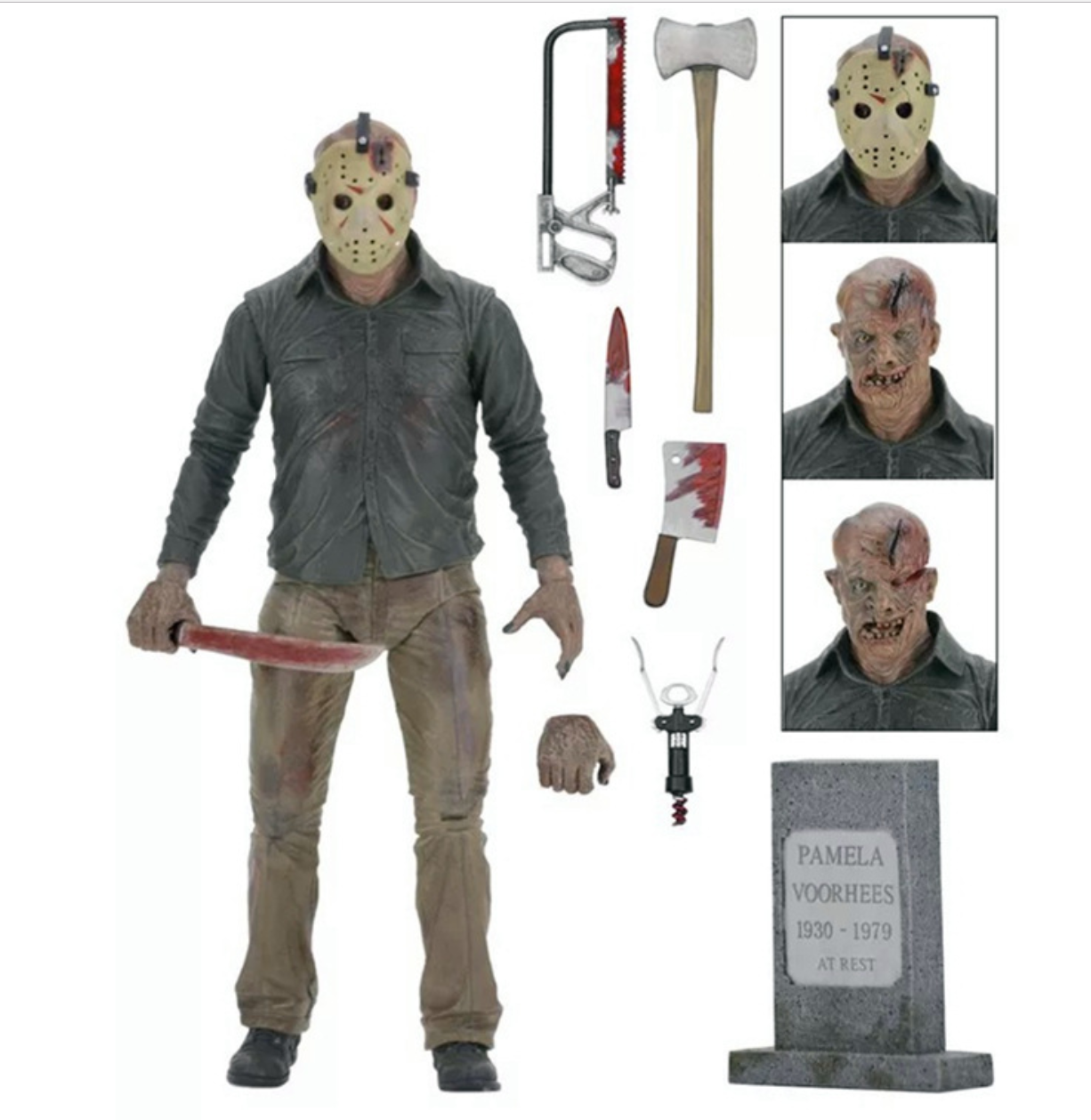 A New Dimension in Terror. a review of Friday the 13th Part 3 Jason Freddy 3D pvc action figure model toy doll 17CM<br>
