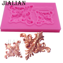 DIY Flowers lace pattern & border Silicone Fondant Mold Wedding Cake Decorating Tools chocolate sugar art displays T0914