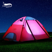 DesertFox 2.5KG Tow Person Double layer  Camping Tent for rest   Rainproof gazebo Tents for outdoor recreation Tent folding bed